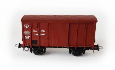 Bergs Двухосный крытый вагон нормального типа НТВ , 18002