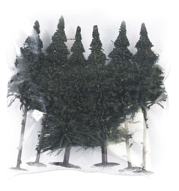 Busch 6 pine trees, 110-140 , 6410