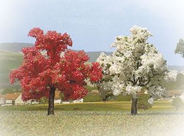 Busch Flowered Trees 75 , 6843