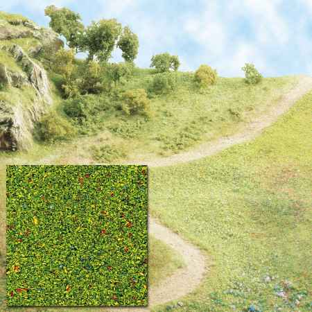 Busch Scatter material - flowering meadow 7300