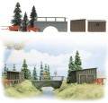 Busch Realistic scene ' Bridge Over Stream' 6041