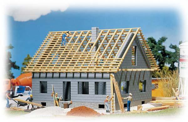 Faller Detached house under construction 130303