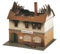 Faller Zur Sonne burnt-down restaurant 130429
