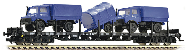 Fleischmann Four-axled stake wagon,  Typ Rs.684  with freight , 526802