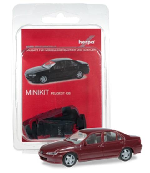 Herpa Peugeot 406 dark red  , 012256-003