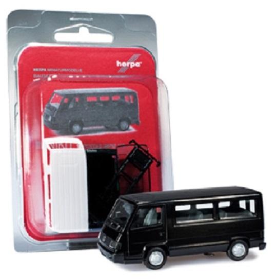 Herpa Mercedes-Benz 100 D bus  black ,  012317-003