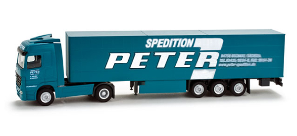 Herpa Mercedes-Benz Actros LH 02 Gardinenplanen-Sattelzug 'Peter' 65900
