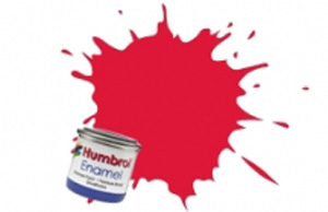 Humbrol Bright Red Gloss Enamel  , 19