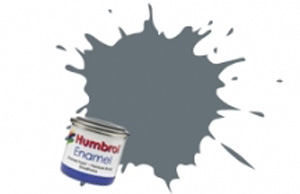 Humbrol Dark Admiral Grey Gloss Enamel  , 5