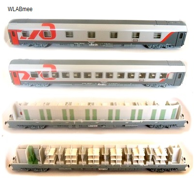 LS Models Passenger cars Set RZD Berlin-Moskow 48027 – train ...