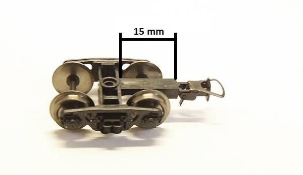 Miniaturmodelle Bogie TsNII-HZ, 2 pcs, short , 20015