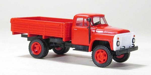 Miniaturmodelle GAZ-52 open side, red , 033345