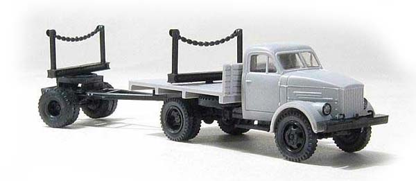 Miniaturmodelle GАZ-51 with lumber trailer 1R3 , 039201