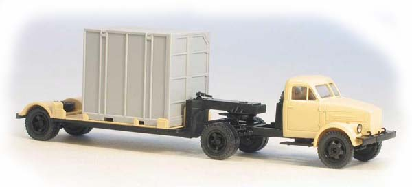 Miniaturmodelle GАZ-51P tractor with 5Т. container trailer civil   , 039223