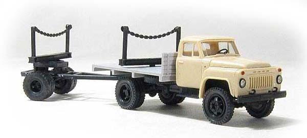 Miniaturmodelle GАZ-52 with lumber trailer 1R3 , 039301