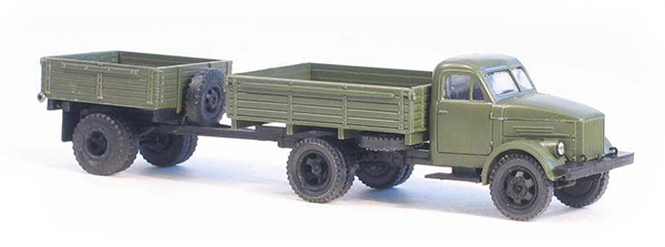 Miniaturmodelle GAZ-51 open side military with trailer 1AP , 033250