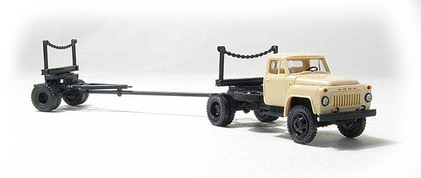 Miniaturmodelle GАZ-52 with lumber trailer 1R3-6 , 039311