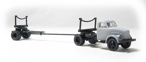 Miniaturmodelle GАZ-51 with lumber trailer 1R3-6 , 039211