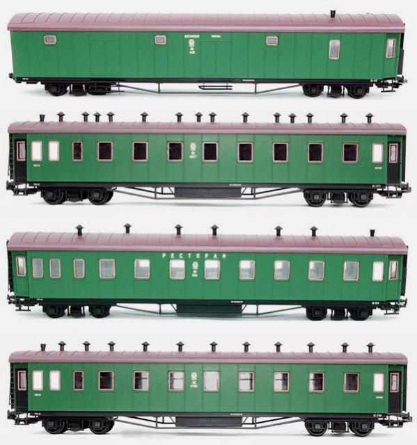 Netuzhilov Passenger car set 4 pcs , EG1234