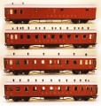 Netuzhilov Passenger car set 4 pcs, Red Arrow , EG1242