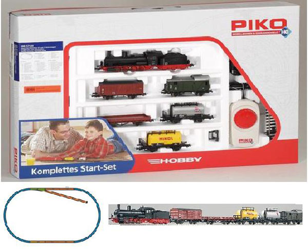 55c8f2f1a33 Piko Starter set Freight train, Steam Engine G7 , 57120 – train ...