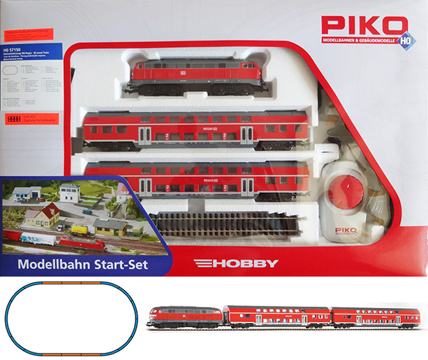 Piko Starter set Passenger train, Diesellokomotive BR 218 , 57150