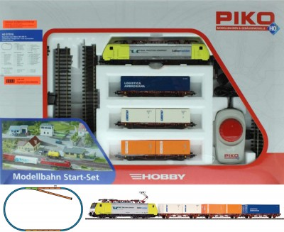 Piko Starter set Container train, BR 189 Electriclokomotive , 97916
