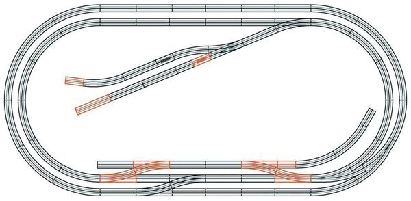 Roco Track set E geoLine , 61104