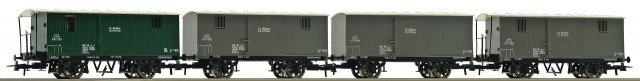 Roco Freight cars, 4 pcs , 67101