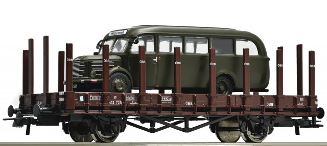 Roco Heavy lorry R with BSteyr-Bus Typ 380 , 67255