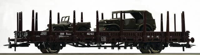 Roco Heavy lorry with Willys Jeep and Dodge Kübelwagen , 67493