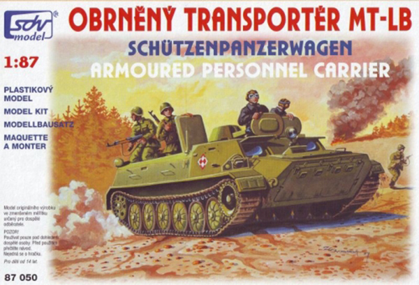 SDV Model MT-LB Soviet multi-purpose amphibious auxiliary armored vehicle, 87050