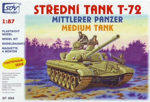 SDV Model T-72 Soviet medium tank, 87054