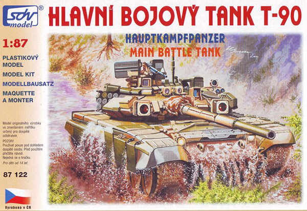 SDV Model T-90 Russian battle tank, 87122