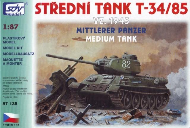 SDV Model T-34/85 1945 Soviet medium tank, 87135