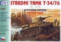 SDV Model 87134 - T-34/76 1941 Soviet medium tank