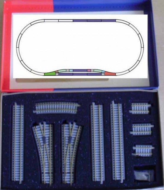 Tillig Track set with ballast , 01833