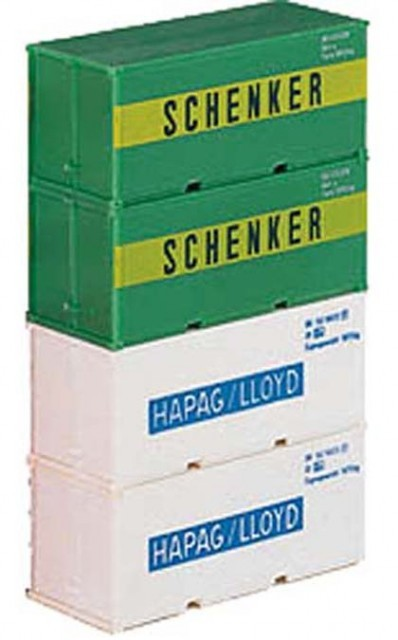 Tillig 4-unit set containers , 07711