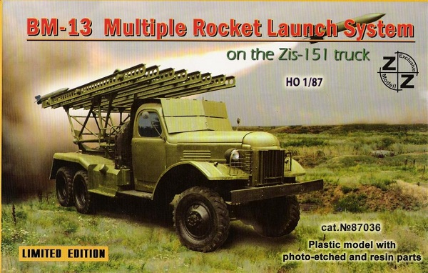 ZZ Models BM-13 Rocket Launch System w/Zis-151 , 87036