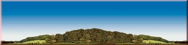 Auhagen 42511: Wooded hills background mural