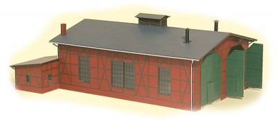 Auhagen 11403: Two-road engine shed