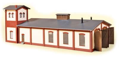 Auhagen 13342: Locomotive shed with water tower, double track