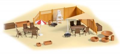 Auhagen 41650: Terrace equipment