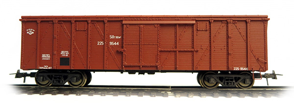 Bergs 0292: Крытый грузовой вагон мод. 26 г.в. с раскосами Nr 225-9544