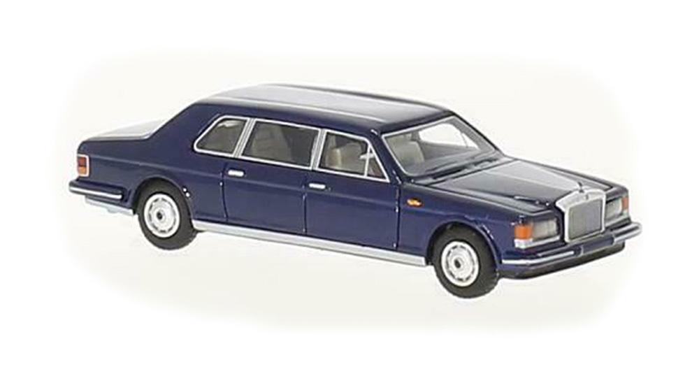 Brekina 87361: BOS: Rolls Royce Silver Spur II Touring Limousine синий