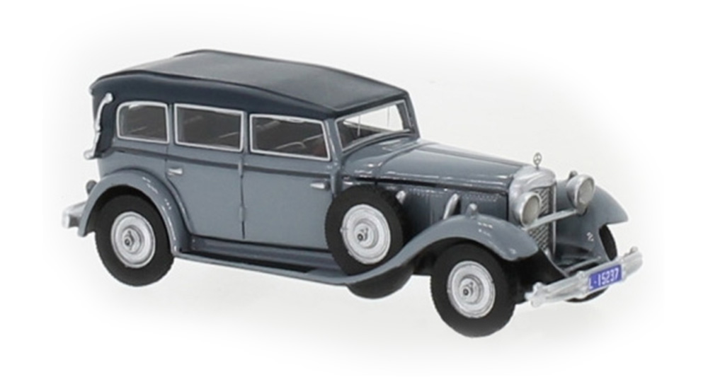 Brekina 87725: BOS: Mercedes Benz 770 (W07) Convertible - gray
