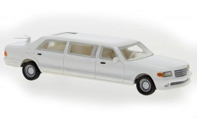 Brekina 87691: BOS: Mercedes V126 Trasco 1990 white
