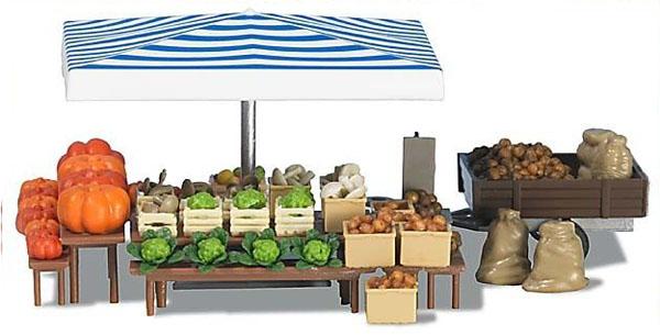 Busch 1070: Market Stand 'Vegetables'