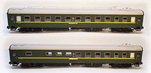 Heris 80127-01: Passenger car Set TsMV with buffet Ammerndorf SZD Moscow-Berlin, 2 pcs