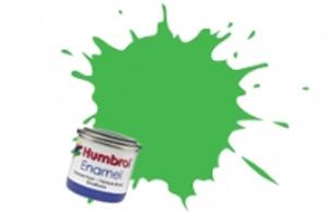 Humbrol 208: Fluorescent Signal Green Gloss Enamel